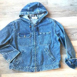 Vintage Denim Jean Jacket w/ Hood